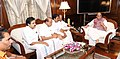 A delegation from Kerala led by the Rajya Sabha MP, Shri A.K. Antony calling on the Union Home Minister, Shri Rajnath Singh, in New Delhi on August 30, 2018.JPG