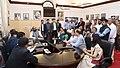 A delegation of Delhi Government employees, meeting the Minister of State for Home Affairs, Shri Hansraj Gangaram Ahir, in New Delhi on February 23, 2018.jpg