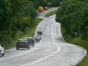 A37 road - Image: A foreshortened view of the A37 south towards Belluton geograph.org.uk 482661