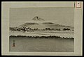 A mountain landscape beyond a river. Woodcut by Gekko, early Wellcome V0047341.jpg
