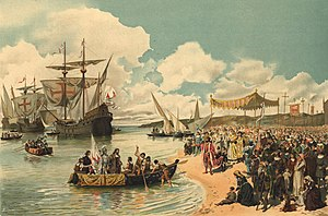 Portuguese Empire - Vasco da Gama's departure to India, in 1497