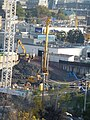 A pile is drilled during construction at 45 Parliament, 2013 10 16 (2).jpg