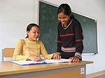 A teacher explains a lesson at the Kon Ray school. (5686574714).jpg