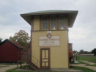 Flatonia, Texas - Flatonia Southern Pacific Tower (1902-1996)