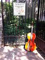 Abandoned cello outside Albert's Garden 2.jpg