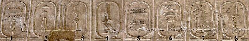 Archivo:Abydos Koenigsliste 1-8.jpg