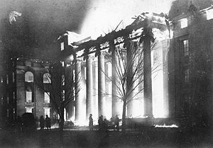 University of Missouri - Fire at Academic Hall, 1892