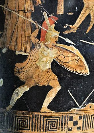 Hellenistic armies - Greek soldier in combat, circa 300 BC (Depiction of Achilles).