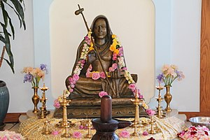 Adi Shankara - Murti of Adi Shankara at the SAT Temple in Santa Cruz, California