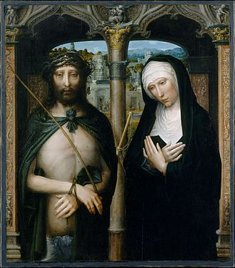Adriaen Isenbrandt - Christ Crowned with Thorns (Ecce Homo), and the Mourning Virgin,1530s, The Metropolitan Museum of Art