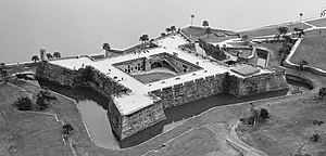 Hispanic and Latino Americans - Castillo de San Marcos in Saint Augustine, Florida. Built in 1672 by the Spanish, it is the oldest masonry fort in the United States.