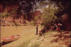 After This Break for Lunch, Visitors to the Canyonlands National Park Will Continue Their Trip Down the Colorado River Several Outfits in Moab Offer Such Trips, 05-1972 (3857078998).jpg