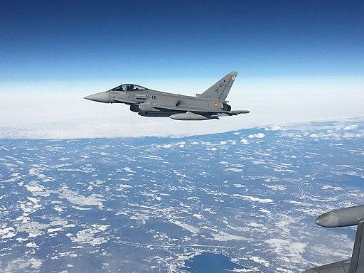 كولومبيا تفكر بشراء مقاتلات Eurofighter Typhoon مستعمله من اسبانيا  512px-Agrupaci%C3%B3n_A%C3%A9rea_Expedicionaria_Red_Flag_17-2_%2832894011372%29