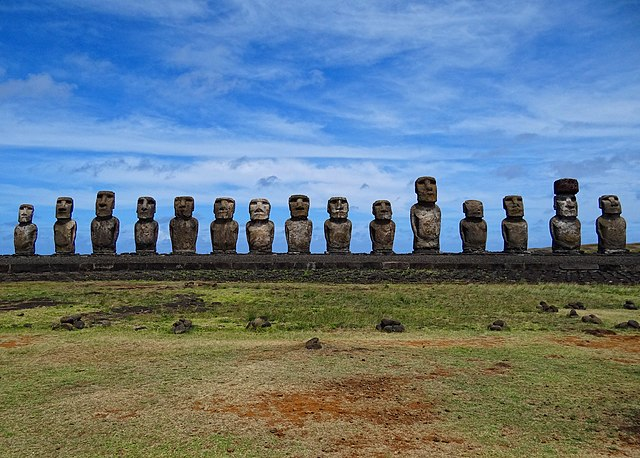 Easter Island statues, known as moai.