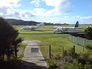 Great Barrier Aerodrome - Aircraft at the aerodrome