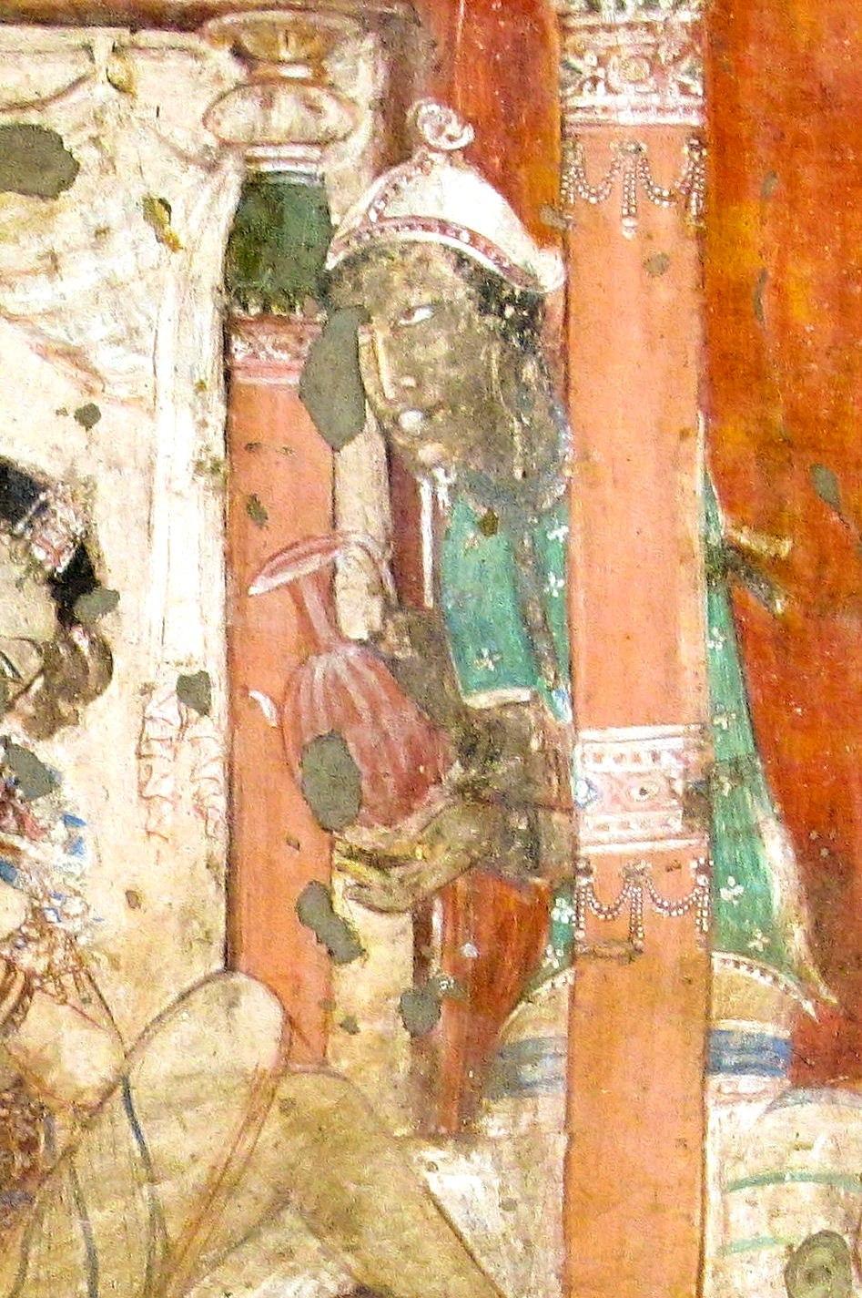 Ajanta Cave 17 foreign servant
