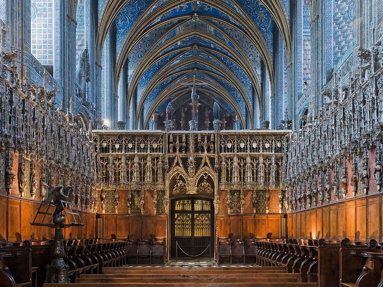 Bon samedi 1280px-Albi_cathedral_-_choir_and_choir_screen