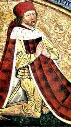 Albrecht III Achilles, Elector of Brandenburg - Portrait of Albrecht Achilles, St. Gumbertus, Ansbach (1484)