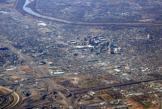 Albuquerque, New Mexico - Aerial view of Albuquerque