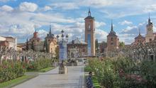 Santa María la Mayor, in Alcalá de Henares, where Cervantes was reputedly baptised; the square in front is named Plaza Cervantes (Source: Wikimedia)