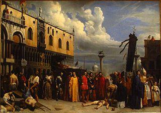 Honneurs funèbres rendus à Titien, mort à Venise pendant la peste de 1576