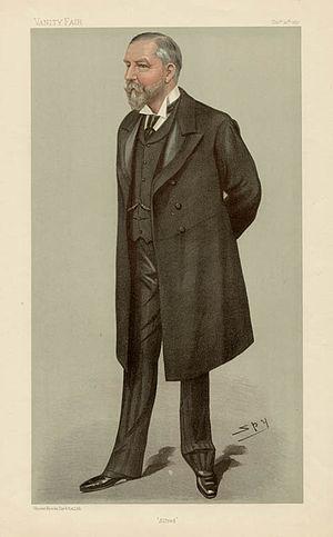 "Alfred Cooper - ""Alfred"" Cooper as caricatured by Spy (Leslie Ward) in Vanity Fair, December 1897"