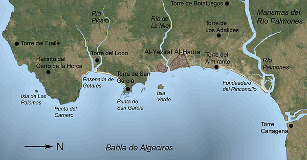 Major structures and places named in the text Algeciras Arabe grande6.jpg
