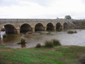 Algodor River - Bridge of the N-401 road over the Algodor near Los Yébenes.