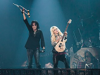 Orianthi - Orianthi performing with Alice Cooper during Alice Cooper's Halloween Night of Horror in 2012