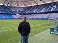 Alirio Granadillo en el estadio del Hamburger SV.jpg