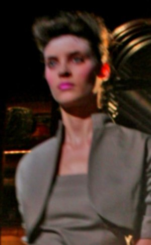 Alison Nix - Nix modeling in Ruffian spring 2008 show, New York Fashion Week.