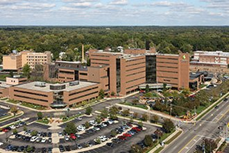 Henry Ford Allegiance Health - Aerial view, looking northeast, of Henry Ford Allegiance Health in Jackson, Michigan.