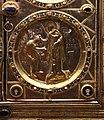 Altare di s. ambrogio, 824-859 ca., retro di vuolvino, arcangeli e scene di omaggio 06 Ambrogio che incorona Vuolvino magister phaber.jpg