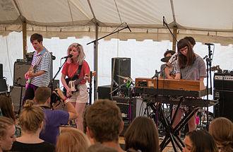 Alvvays - Alvvays performing at the 2014 Hillside Festival