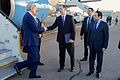 Ambassador Beecroft, Egyptian Protocol Official Greet Secretary Kerry Upon Arrival in Sharm el-Sheikh.jpg