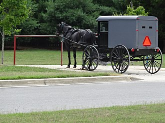 St. Mary's County, Maryland - Amish horse and buggy in Mechanicsville