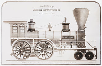 Amoskeag Locomotive Works - Amoskeag' locomotive, No. 92, shown in 1853