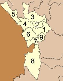 Provincia di Tak-Suddivisione amministrativa-Amphoe Tak