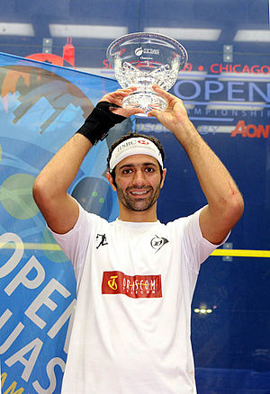 Amr Shabana - Shabana after winning the AON US Open.