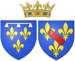 Description de l'image Ams of Marie de Bourbon, Duchess of Montpensier (in her own right) as Duchess of Orléans.png.