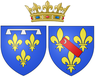 Ams of Marie de Bourbon, Duchess of Montpensier (in her own right) as Duchess of Orléans.png