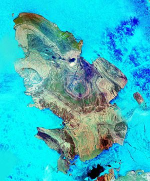 Amund Ringnes Island - Amund Ringnes Island from space