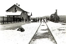 Amyndeo (Sorovits), Florina prefecture, Greece - Railway station photograph in 1894.jpg