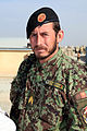 An Afghan National Army soldier arrives at Forward Operating Base Shank in Logar province, Afghanistan, for the Voices of Moderate Islam (VOMI) reunion Oct 101014-A-UH396-221.jpg