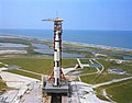 An aerial view of Pad A showing the Apollo 15 space vehicle.jpg