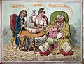 An obese gouty man drinking punch with two companions. Colou Wellcome L0006235.jpg