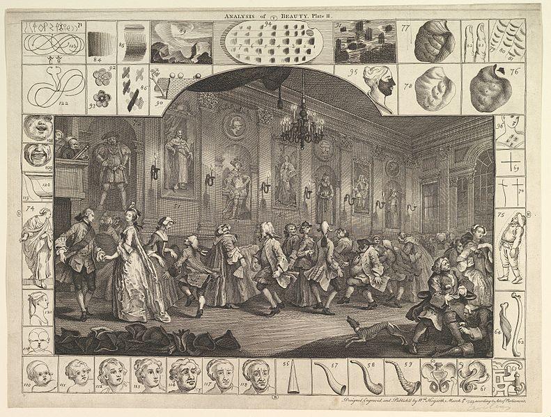 Plate 2, Analysis of Beauty, William Hogarth