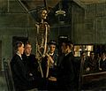 Anatomy lessons at St Dunstan's. Oil painting by J.H. Lobley Wellcome V0017134.jpg