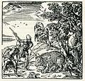 Ancient Athenians slaughter a bear - Thevet André - 1556.jpg