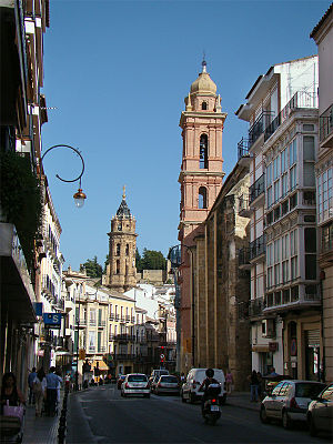 Antequera - Old town and towers of San Agustín and San Sebastián churches